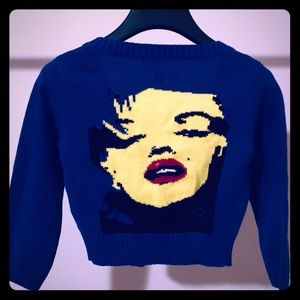Betsy Johnson Marilyn Monroe Cropped Cardigan